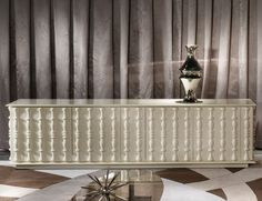 Nella Vetrina Streamlined Brian Italian Designer Wood Cabinet