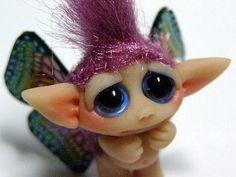 OOAK Butterfly Faerie Trollfling Troll doll Destina by Trollflings,