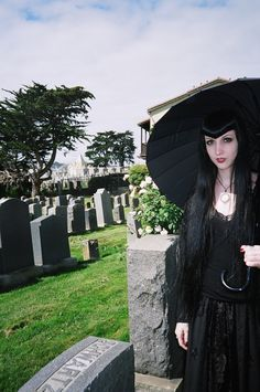 In honor of Oddities San Fran coming back.  Wednesday Mourning in one of the many cemeteries in Colma.