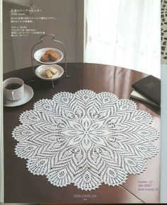 FREE DIAGRAM   ~   SCROLL DOWN FOR PATTERN Ondori Classic Crochet Lace 2008