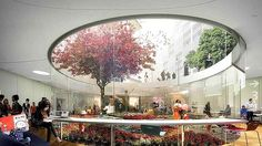 """Design for Sydney's Green Square, a """"community living room"""" theme. Pic is of the view of the Green Square library garden with plaza above."""