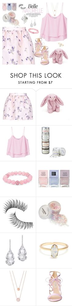 """Pretty Pinks"" by annbaker ❤ liked on Polyvore featuring RED Valentino, Jellycat, MANGO, Palm Beach Jewelry, Nails Inc., Trish McEvoy, Plukka, Michael Kors and Casadei"