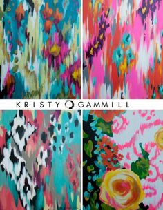 Kristy Gammill's abstract artwork is saturated in vibrant color, rich in texture and just makes you smile. The Oklahoma-based mom is for the most part a self-taught artist.