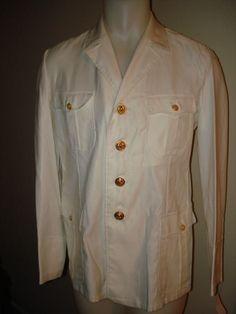 US Navy Men's Service White Uniform Jacket 40R