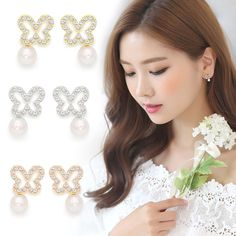 Celebrity Style Jewelry~Stud Earrings 925 Sterling Silvers Needle Made In Korea…