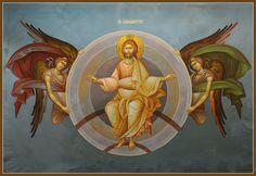 Analipsis (center top part) | Byzantine Iconography Workshop - kopsidas.com