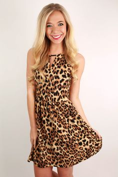 You'll be lovely in leopard in this pretty little dress! Wear it with a glam necklace and pretty heels. You'll exude elegance no matter the occasion!