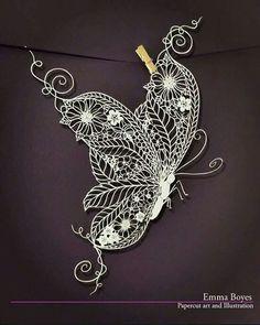 Emma Boyes paper-cut art and illustration