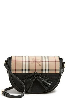 Burberry 'Maydown - Small' Leather Crossbody Bag available at #Nordstrom