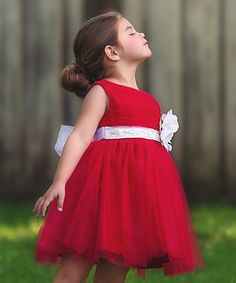 Look at this Red Bella Holly Dress - Infant, Toddler & Girls on #zulily today!