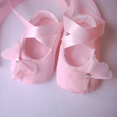 Pink on Pink Bow Sparkle Ballerina Flower Baby by roxyfoxy3