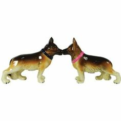 Westland Giftware Mwah Magnetic German Shepherds Salt and Pepper Shaker Set, 3-1/2-Inch,$10.73