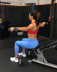 alexia_clark S. reps on each side for each exercise. rounds then watch the sculpting happen Bi And Tri Workout, Six Pack Abs Workout, Butt Workout, Gym Workouts, Body Fitness, Fitness Tips, Alexia Clark, Thigh Exercises, Hamstring Exercises