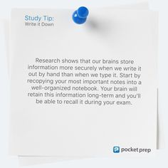 Exam Prep Apps for Standardized Testing and CertificationsPocket Prep Spaced Repetition, Exam Study Tips, Notebook Organization, Learning Techniques, Visual Aids, Write It Down, Test Prep, Textbook, Breakup