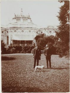 Felix Youssoupoff in front of his family 'Dacha' at Tsarskoe Selo.