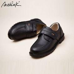 ActhInK New Kids Genuine Leather Wedding Dress Shoes for Boys Brand Children  Black Wedding Shoes Boys 408202b1369d