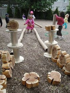 Wood or Metal Playground Equipment? – Playground Fun For Kids Reggio Emilia, Outdoor Learning Spaces, Outdoor Education, Backyard Playground, Playground Ideas, Children Playground, Backyard Ideas, Outdoor Classroom, Outdoor Fun