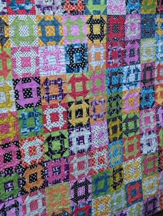 Churn Dash - A Brit Bee Quilt by Laura @ Needles, Pins and Baking Tins, via Flickr - I want to make a super scrappy churn dash quilt this coming year