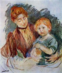 """One of """"les trois grandes dames"""" of Impressionism alongside Marie Bracquemond and Mary Cassatt, French painter Berthe Morisot was a painter and a member of the circle of painters in Paris who became known as the Impressionists. Pierre Auguste Renoir, Edouard Manet, French Impressionist Painters, Impressionist Paintings, Camille Pissarro, Berthe Morisot, Mary Cassatt, Edgar Degas, Pastel Art"""