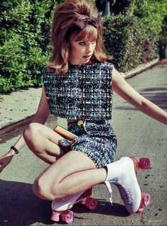 Realistic 60s-Inspired Photoshoots - The Vogue Germany 'Zeitsprung' Editorial Stars Edie Campbell (GALLERY)