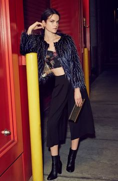 Raga Faux Fur Jacket & MINKPINK Bustier  available at #Nordstrom