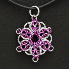 chainmaille | Handmade Jewelry ChainMaille Pendant-Celtic Star Violet