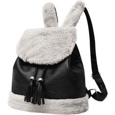 Tassel Color Block Backpack Black ($30) ❤ liked on Polyvore featuring bags, backpacks, zaful, tassel crossbody bag, rucksack bags, knapsack bag, crossbody bags and block bag