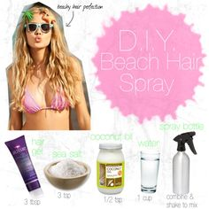 Beachy Summer Hair- DIY Beach Hair Spray | Inspire Beauty Tips A little skeptical but we'll see