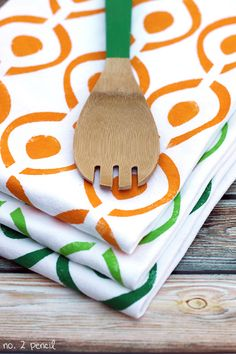 DIY Stenciled Tea Towels