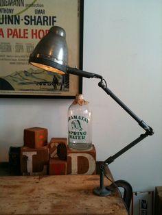 Industrial Factory Lamp, ca. 1940s