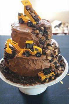 Food Cakes, Cupcake Cakes, Cupcake Shops, Cupcake Ideas, Beautiful Birthday Cakes, Construction Birthday Parties, Construction Cakes, Creative Cakes, Cake Art