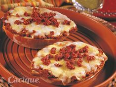 """Molletes-""""French rolls"""" with Longaniza Fresca 