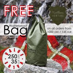 - FREE DRYBAG -  Birthday weekend in @northernhunting_com This Sunday we celebrate 2 years. FREE GIFT to everyone the whole weekend. Valid on all orders from 1000 DKK / 135 EUR. Use the code: DRYBAG2017 at www.northernhunting.com Birthday Weekend, Free Gifts, Hunting, Sunday, Bags, Handbags, Domingo, Corporate Gifts, Dime Bags