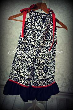 Girls Pillowcase Dress Gaucho Overalls Black by JazzyGirlBoutique, $29.50