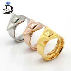 Find More Rings Information about MSX Summer Style Unisex Triangle Stainless Steel Punk Finger Rings For Women Rose Gold Plated Convex Nail Female Ring anillos,High Quality steel my heart jewelry,China ring wav Suppliers, Cheap steel ring from JINHUI on Aliexpress.com