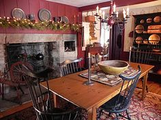 Dining by the hearth...
