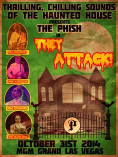 Mgm Grand Las Vegas, Concert Posters, Movie Posters, Mgm Grand Garden Arena, The Jam Band, Halloween 2014, Phish, Music Albums, Gd