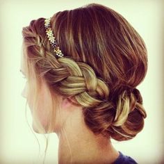 Boho Braid Up-do: start out by grabbing your hair by your part (about 2 inches) and start to French braid until you get to the end of your forehead. Once you get there, start to lace braid. Do this until you get to the back of your head or the desired placement you would like your bun. Tie it off and wrap your bun adding bobby pins or hairspray where needed.
