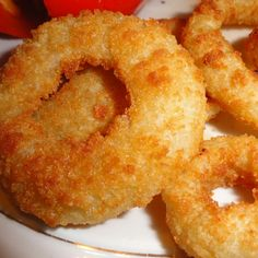 Onion rings Finger Food Appetizers, Appetizer Recipes, Snack Recipes, Cooking Recipes, Baked Onion Rings, Onion Rings Recipe, Air Fried Food, Onion Recipes, My Best Recipe