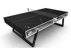 PUMAのお洒落なデザインの卓球台。オールブラックカラーがかっこいい。自宅用に欲しいな(笑)。 : 伊勢海老太郎ブログ
