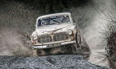 Awesome shot of 122 doing some wet action on this rally