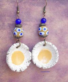 Le produit Boucles d'oreilles miel cobalt Bijou tribal ethnique Cadeau créateur pour elle est vendu par Boutique de CocoFlower - Bijoux et Accessoires créateur   Tictail vous permet de créer gratuitement votre boutique en ligne - tictail.com