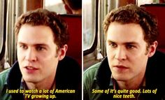 I used to watch a lot of American TV growing up. Some of it's quite good. Lots of nice teeth. || Leo Fitz || AOS 1x13 T.R.A.C.K.S. || 530px × 323px || #quotes