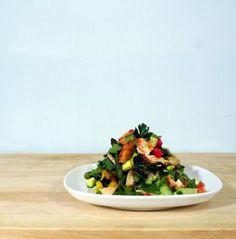 Spring salmon salad with roasted asparagus