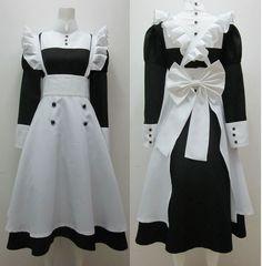 Kuroshitsuji Black Butler Mey-Rin Maid Cosplay Costume Moda Lolita 9598da8b8920