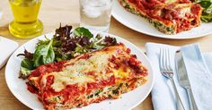 Boost the protein in traditional spinach and ricotta cannelloni by adding a can of tuna.
