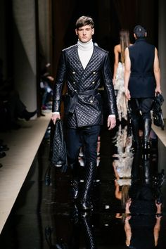 BALMAIN FALL/WINTER 2016 MENSWEAR SHOW LOOK 48