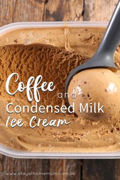 Coffee and Condensed Milk Ice Cream is a lovely 'Adults Only' ice cream that is rich and decadent.This Coffee and Condensed Milk Ice Cream is a lovely 'Adults Only' ice cream that is rich and decadent. Mini Desserts, Ice Cream Desserts, Frozen Desserts, Ice Cream Recipes, Frozen Treats, Dessert Recipes, Recipes With Milk, Easy Ice Cream Recipe, Cheesecake Ice Cream