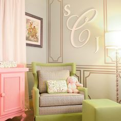 The whimsical nursery we designed for Laila Ali, via @lilsugar