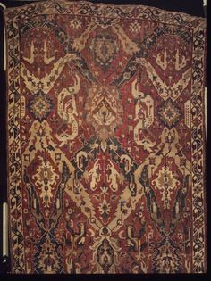 Dragon Carpet, late 17th century. Wool, 95 x 220 in. (241.3 x 558.8 cm). Brooklyn Museum, Gift of Mrs. J. Fuller Feder, 58.130. Creative Commons-BY (Photo: Brooklyn Museum, 58.130_transp6375.jpg)